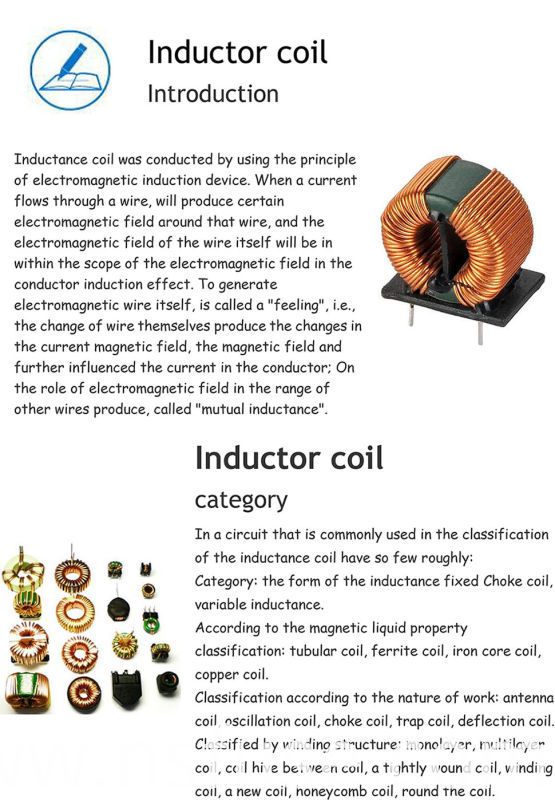 High Current and High Reliability Variable Inductor Coil/Choke Coil in Inductor