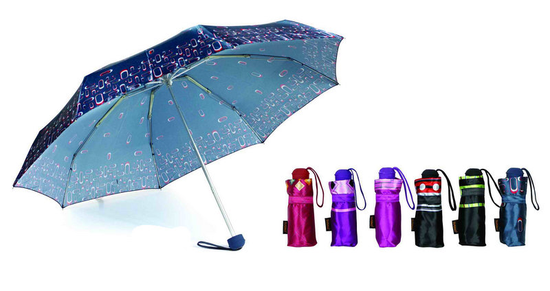 Print Satin 3 Fold Quality Windproof Umbrellas (YS-3FA22083963R)