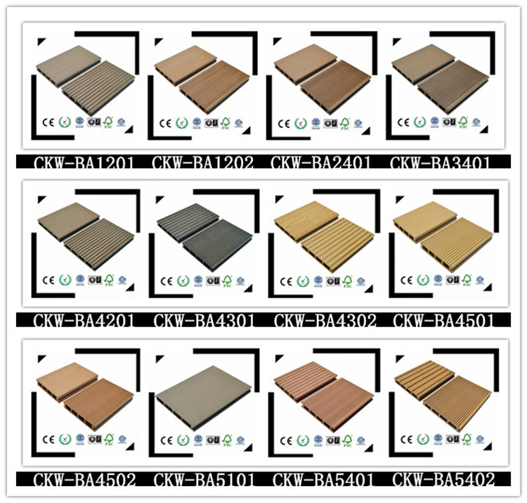 146*23 Good Price Extruded Plastic Composite Decking