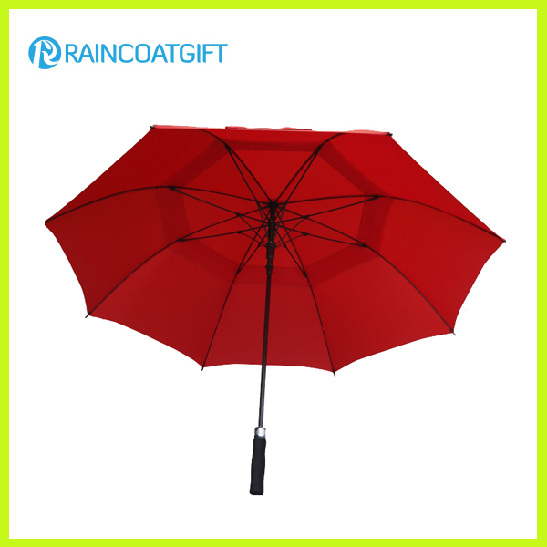 Double Canopy 30inch Straight Golf Umbrella Rum0704-01