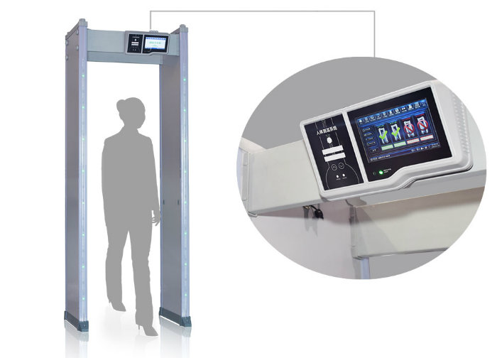 Touch Screen 24/33 Zones Metal Detector Gate with Alarm Counter