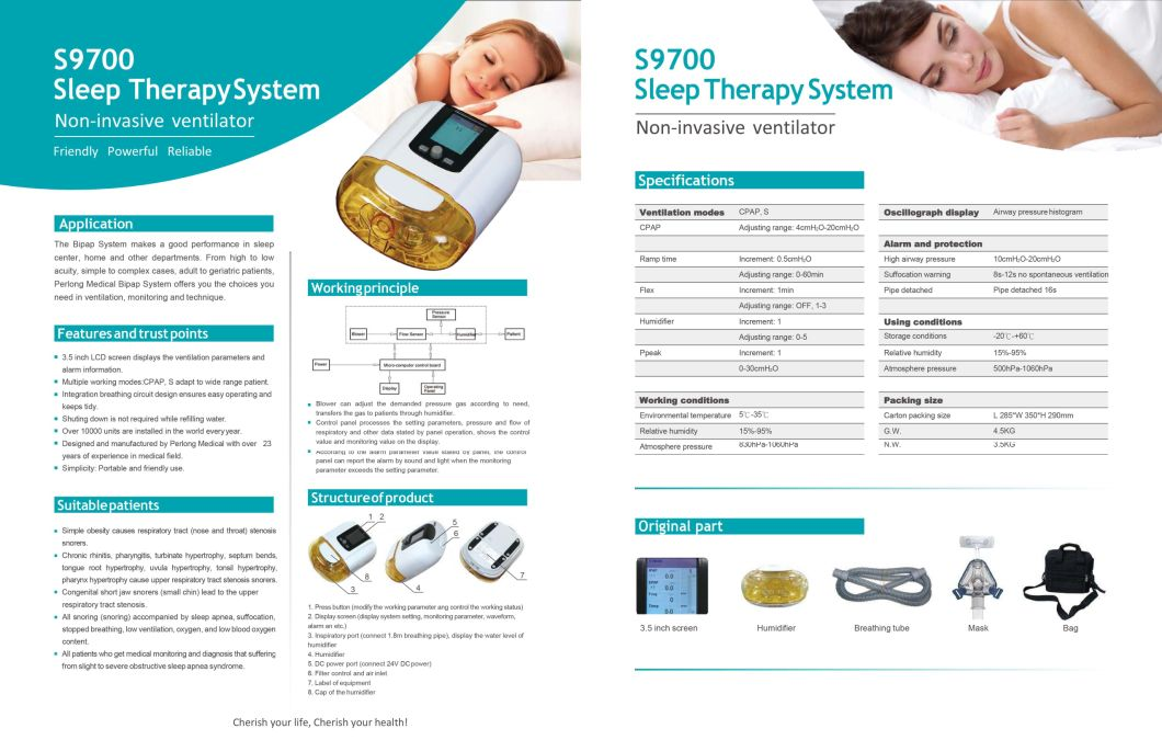 Sleep Therapy System|What Is Ventilator Breathing Machine for Home Use