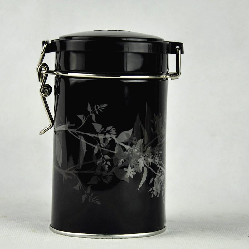 Custom Round Airtight Tea Packaging Tin Box with Wire Lock