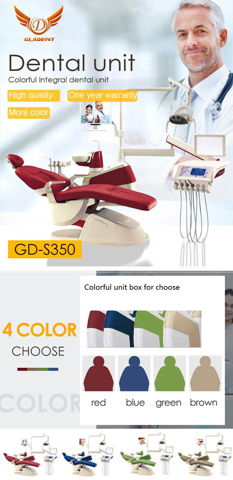 Brown ISO Approved Dental Chair Dental Hygienist Chair/Old Dentist Chair/Dental Equipment and Supplies