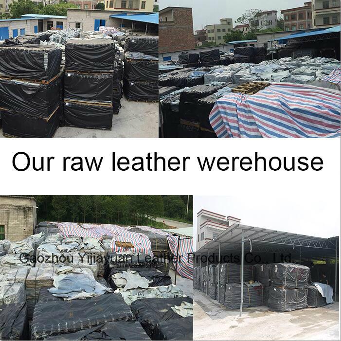 Blue Heavey Duty Cowhide Split Leather Welding Gloves with Kevlar Thread