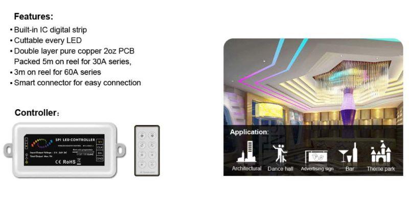 Built-in IC Digital 5050 DC 5V LED Strip, High Brightness LED Strip RGB Signcomplex