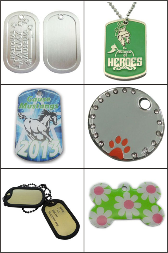 Customized Metal Printing Couple Dog Tags for Promotion