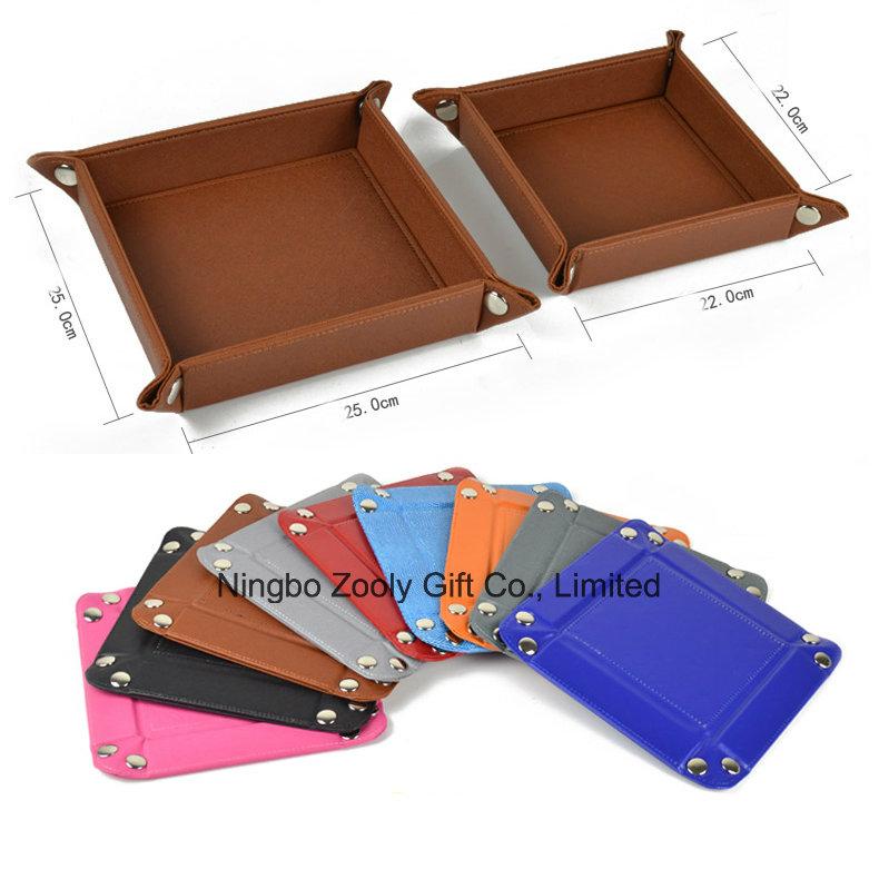 Wholesale Faux Leather Desktop Snap Tray Organizer Document Tray