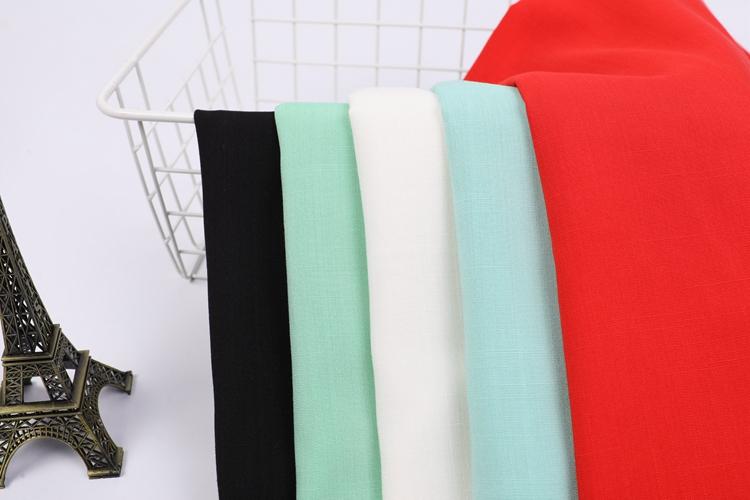 High quality woven dyed slub spun 100%rayon fabric