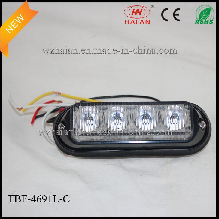 Split Color LED Auto Grille Lightheads for Ambluance or Police Car (TBF-4691L-C)