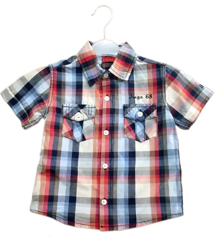 Short Sleeve Boy Polo Shirt in Children Clothes Kids Wear Sq-17116