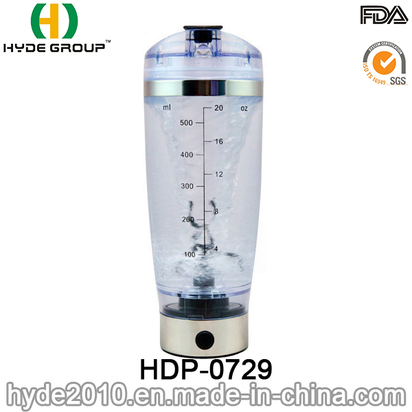 USB Charge Popular 600ml Vortex Shaker Bottle, BPA Free Plastic Electric Protein Shaker Bottle (HDP-0729)