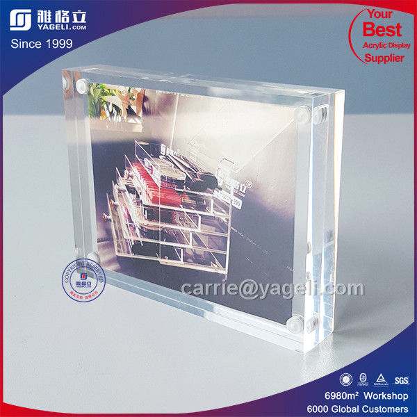 Factory Direct Sale 4X6 Acrylic Magnetic Photo Frame