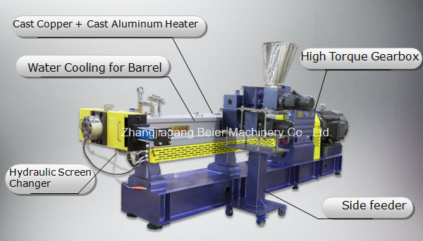 Plastic Compounding&Granulating Parallel Twin-Screw Extruder