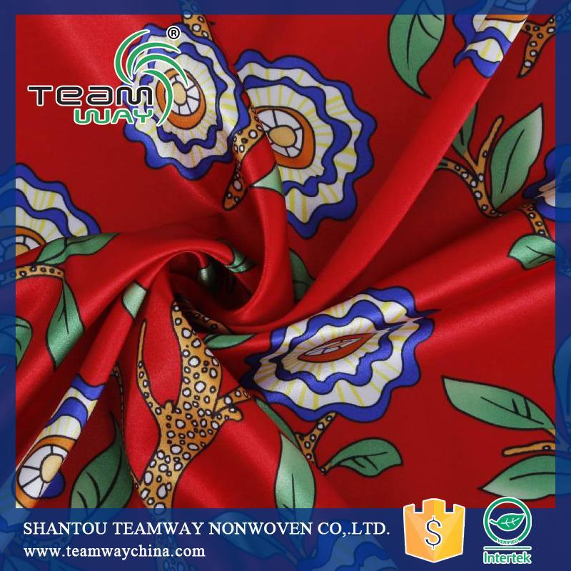 Digital Printing Satin Fabric 100% Polyester Fabric