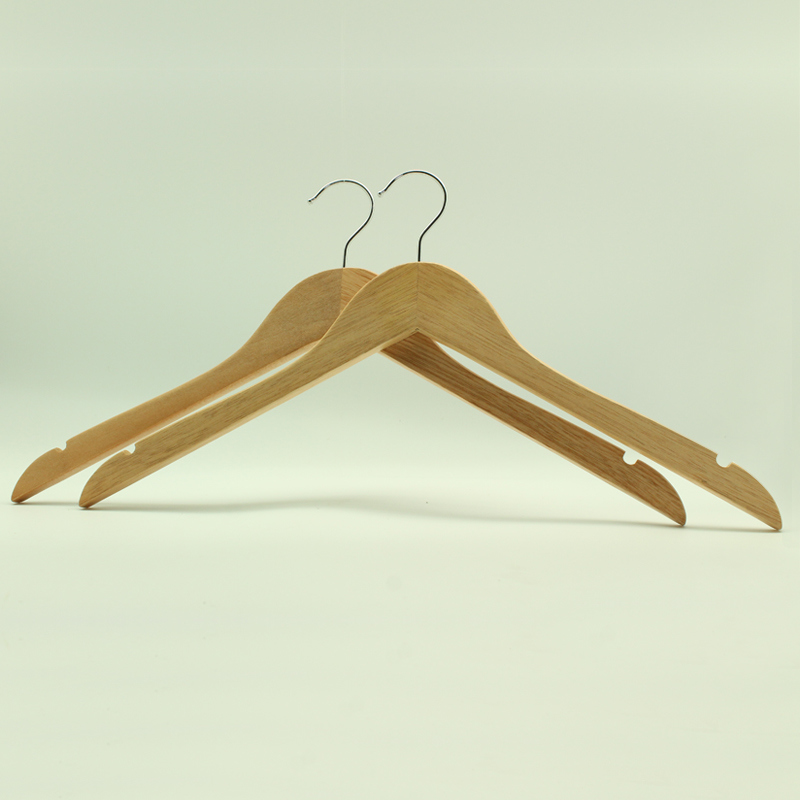 Normal Clothes Bamboo Hanger with Notch (YLBM6615-NTLNR1)