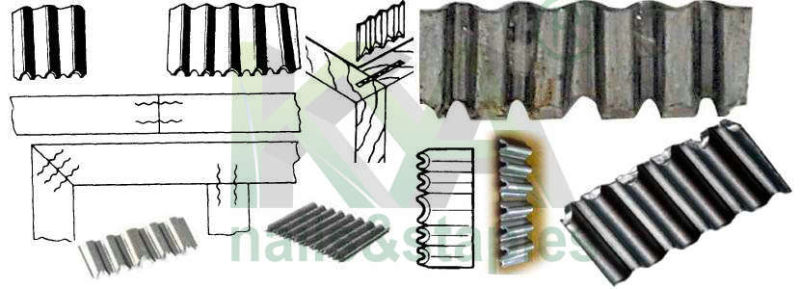 Three Corrugated Fasteners as Joiner for Furnituring