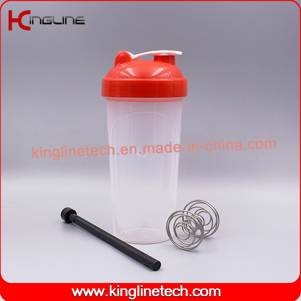 700ml Plastic Protein Shaker Bottle With connecting rod (KL-7033E)
