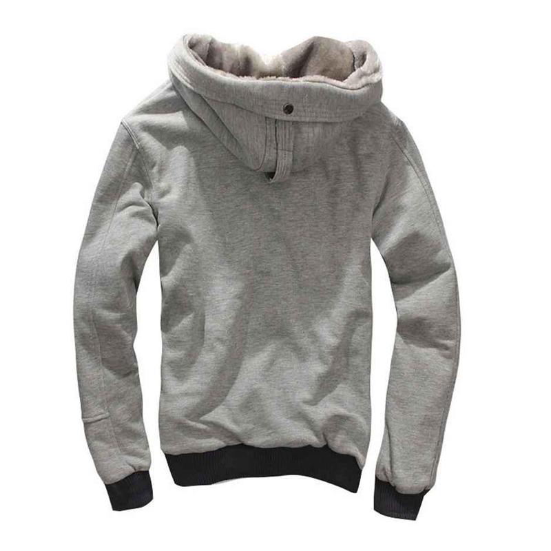 Winter Warm High Quality Plain Full Zip-up Hoodies