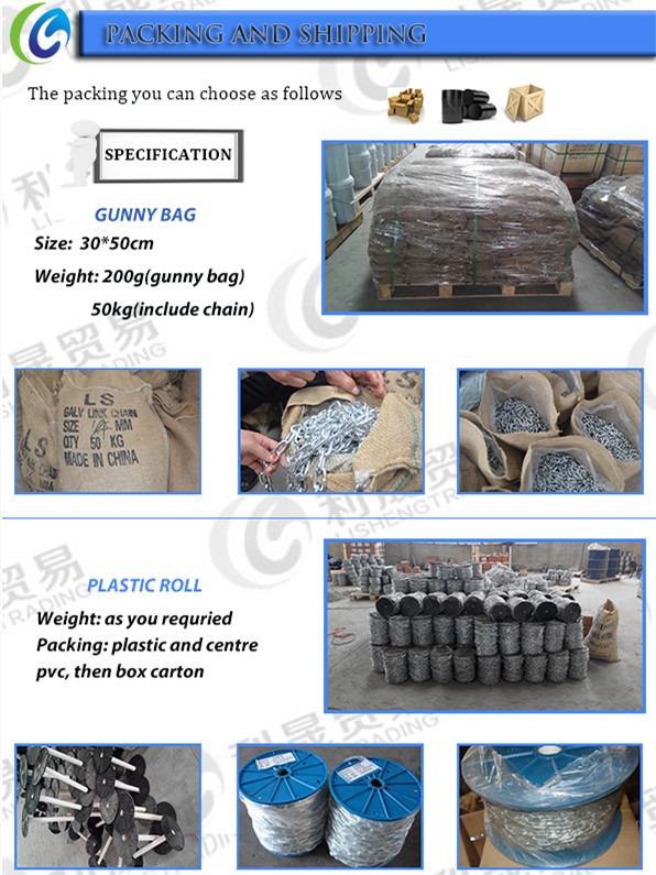 Polishing steel Protection Long Link Chain
