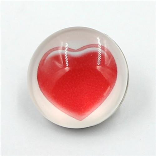 Heart Pattern Metal Button Snaps, 18mm Press Metal Snap Button