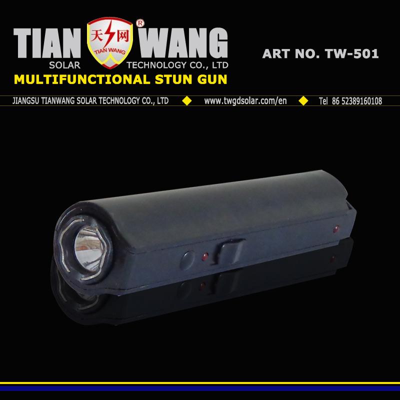 Police Flashlight Electric Shock with LED Light Stun Guns