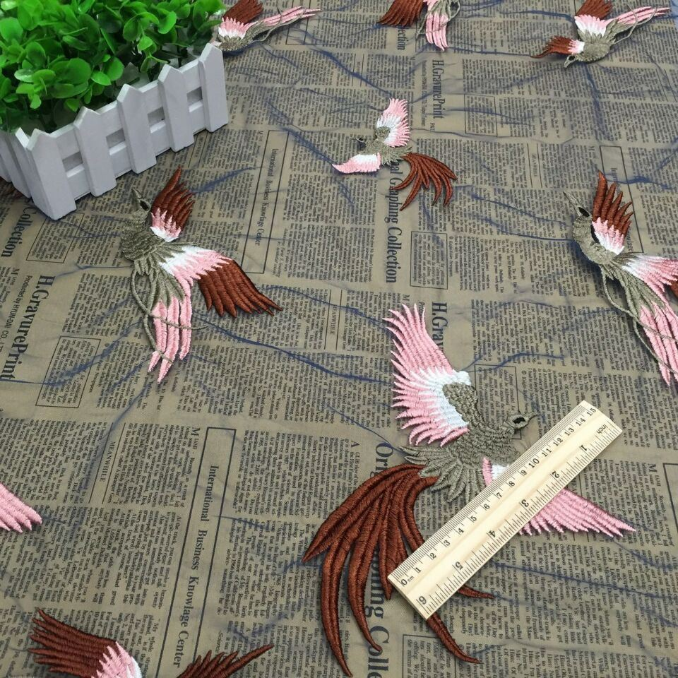 New Design Bird Embroidery Fabric for High Quality Women Dress