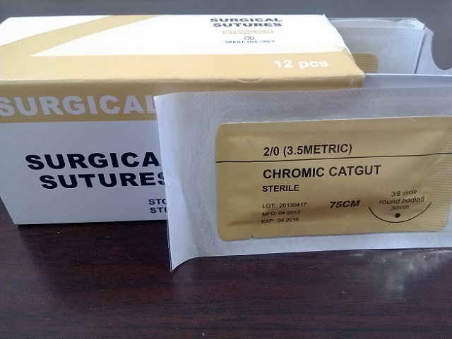 Medical Supply---Sterile Surgical Suture (PGA/PDO/Silk/Nylon/Catgut) USP3/0