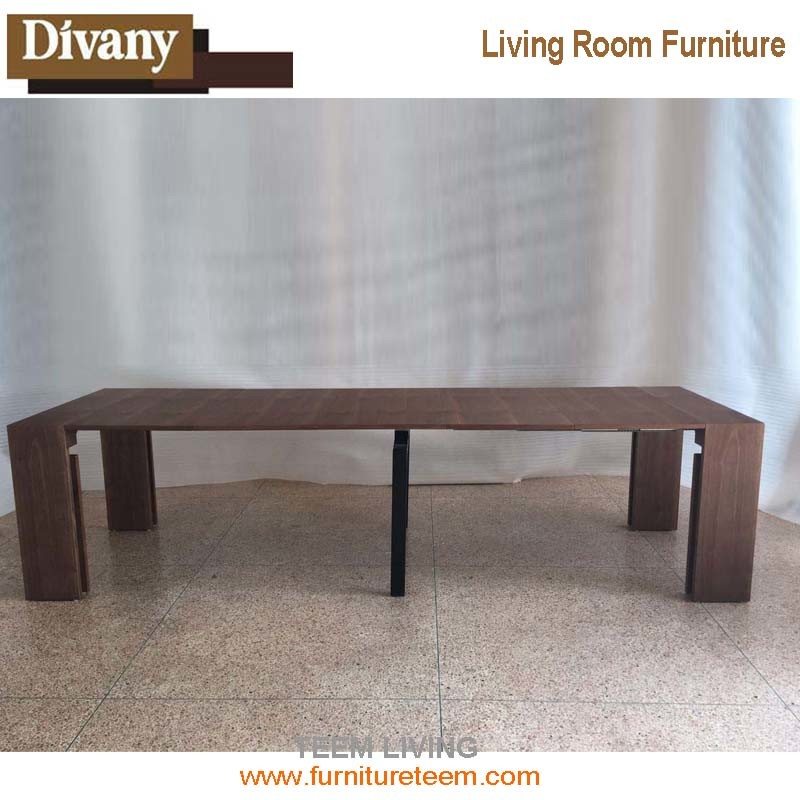 MDF Top 10 Seatings Extendable Dining Table
