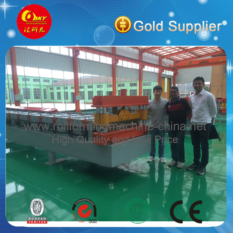 Hky Automatic Color Steel Roof Rolling Machine