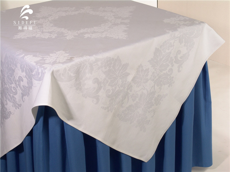 Hotel White Banquet Wedding Cotton Table Cloth