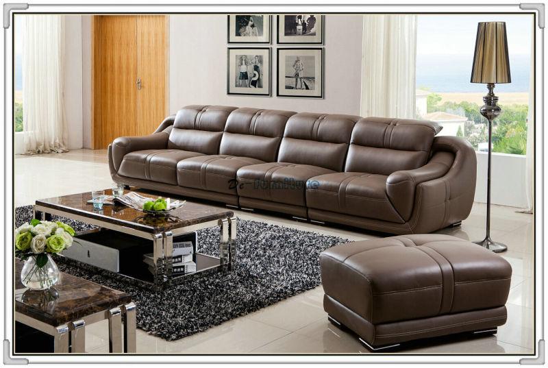 High Quality 1+2+3 Leather Living Room Sofa (A849)