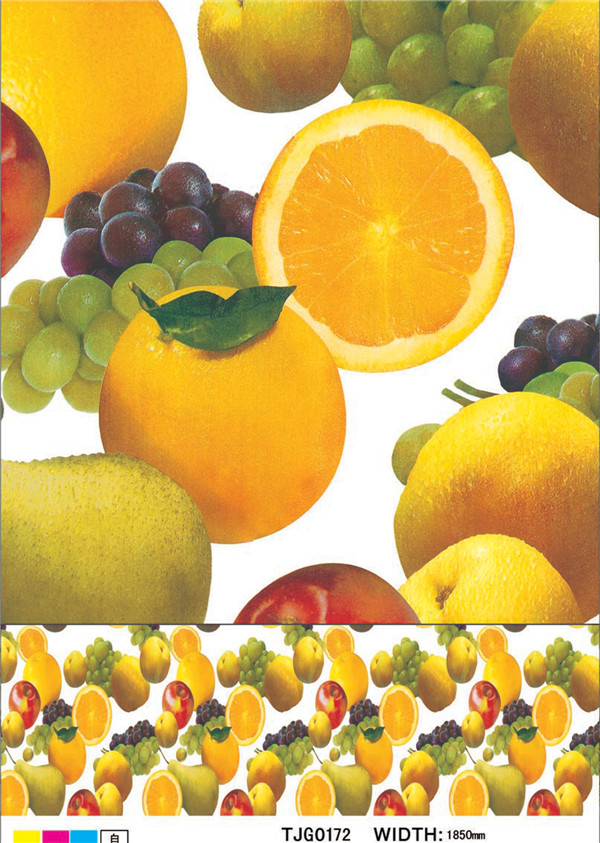 New Design Friendly Colorful PVC Printed Tablecloth with Fruit