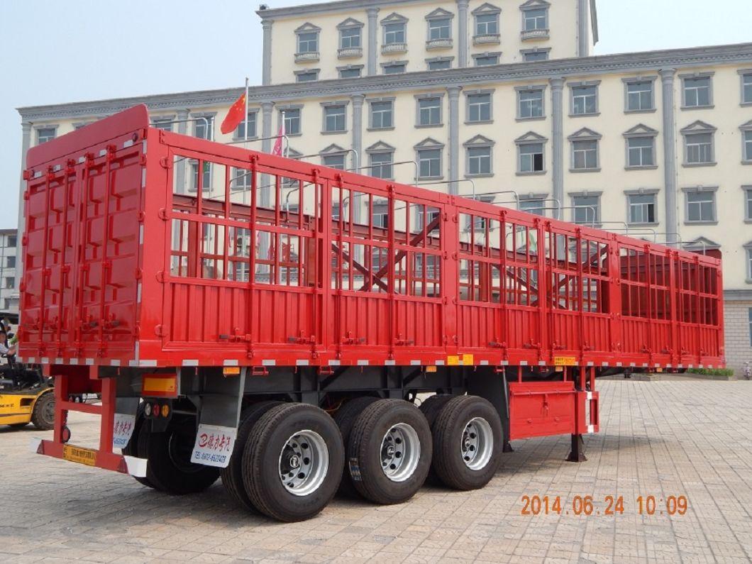 Deli 40 to 120 Ton Cargo Trailer Fence Semi Trailers