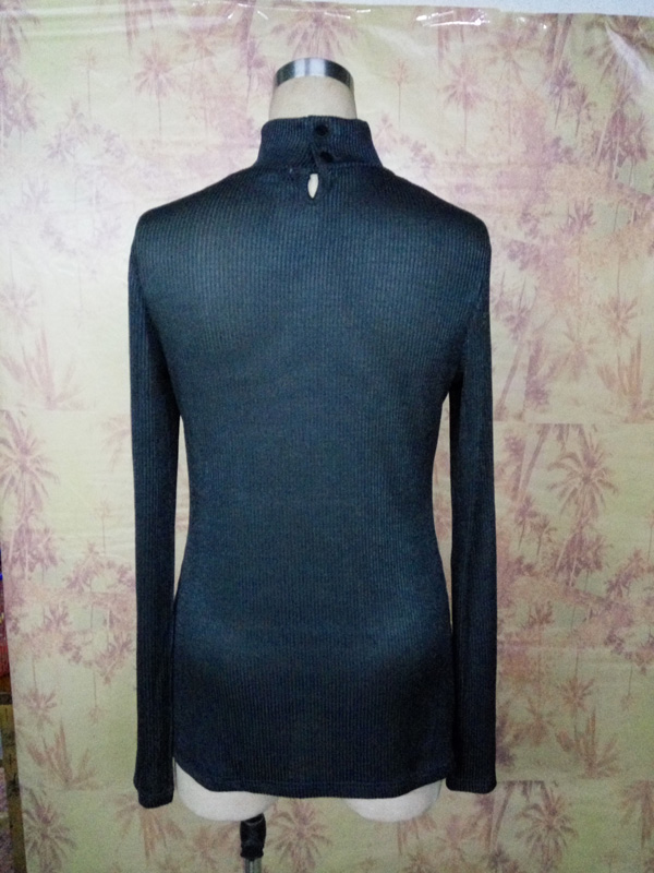 Fashion Slim Fitted Turtle Neck Custom Ladies and Girl Tops