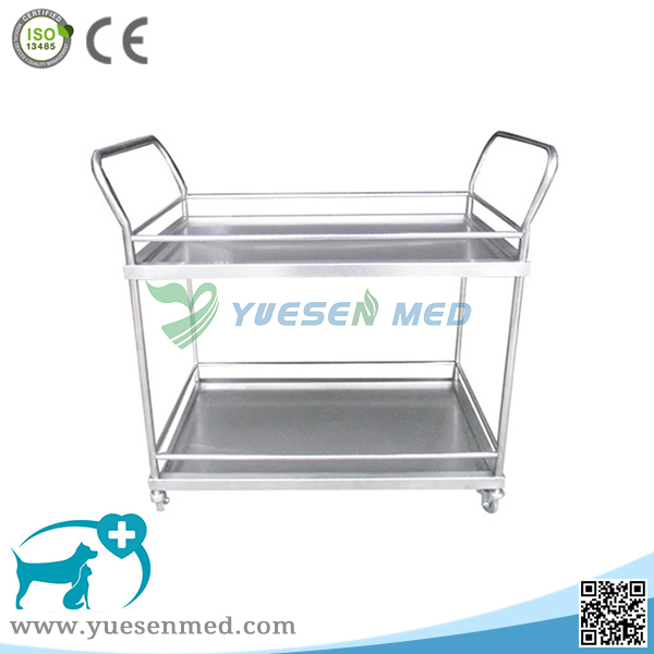 Medical Veterinary Clinic 304 Stainless Steel Surgical Instrument Trolley