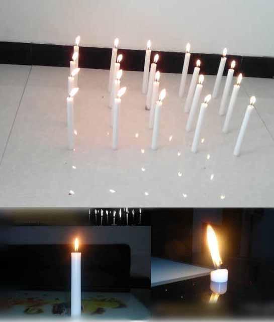 Household Lighting/ Decoration Wax Pillar/ Christmas White Candle