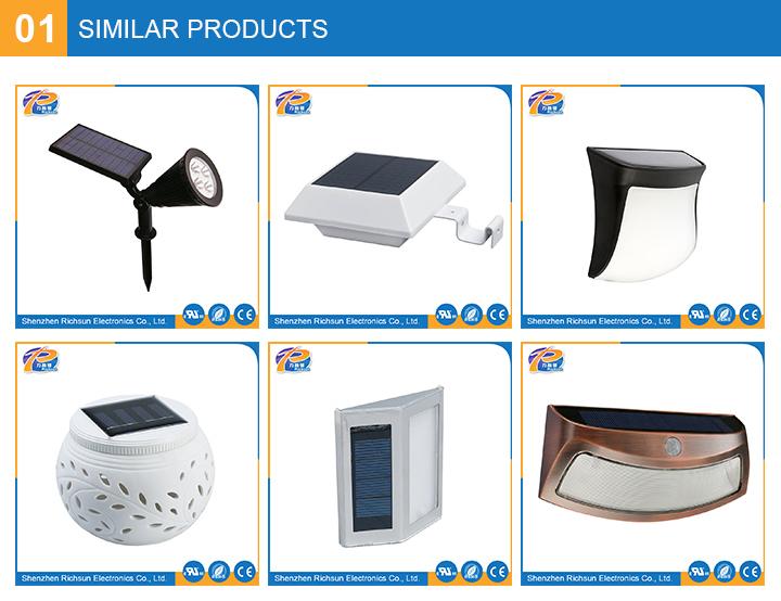 Ceramics IP65 Warm White LED Solar Garden Light