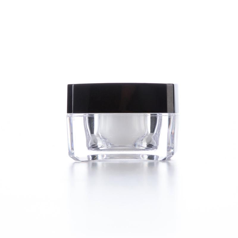 30g Clear Acrylic Jar with Screw on Black Cap Gift Jar