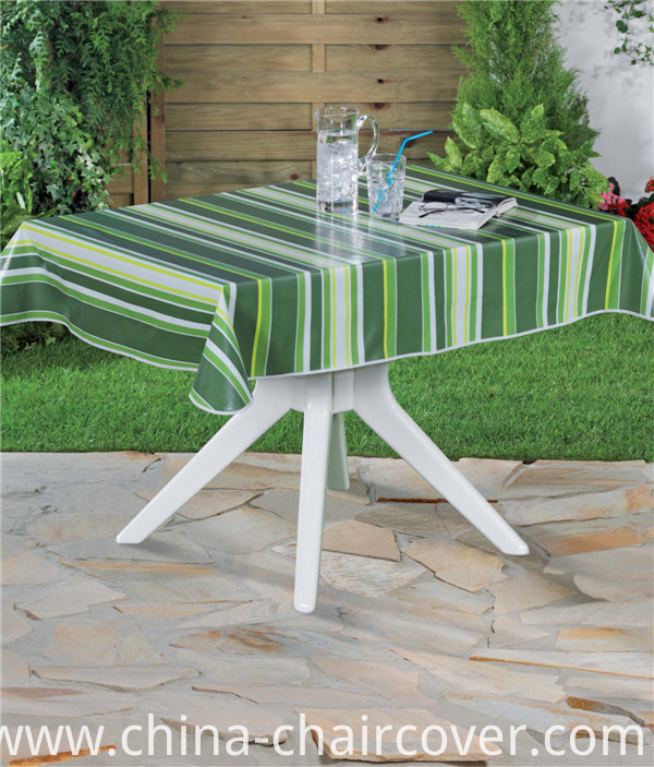 PVC Printed Pattern and Square Shape PVC Tablecover with Backing (TJ0088)