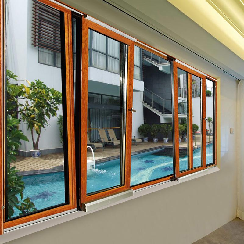 Feelingtop American Style Aluminum Casement Sound Proofing Window