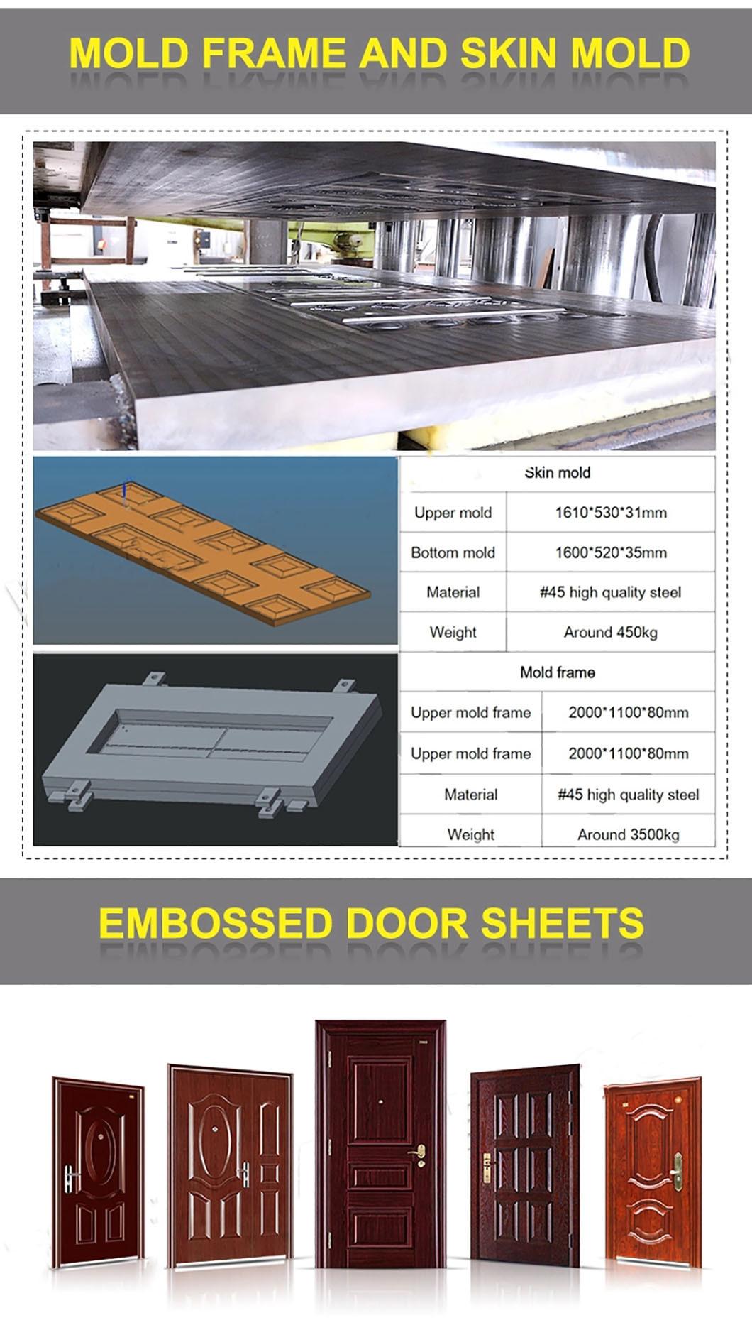Hydraulic Steel Door Skin Embossing Machine / Mould Door Skin Press Machine