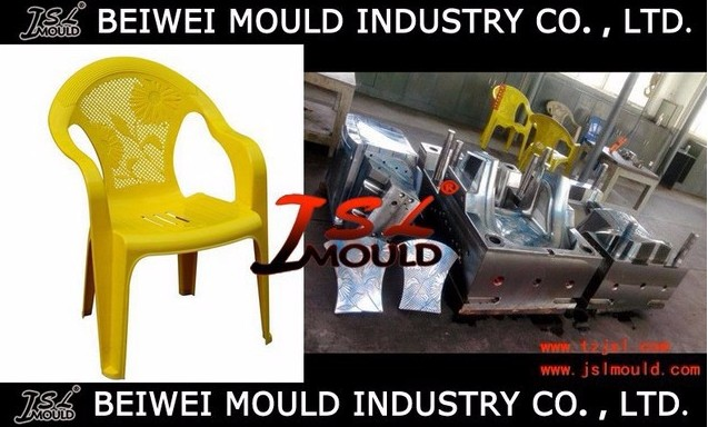 Customized Injection Plastic Armless Arm Chair Mold