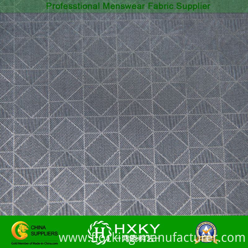 100%Polyester Geometric Pattern Embossed Fabric for Men's Jacket
