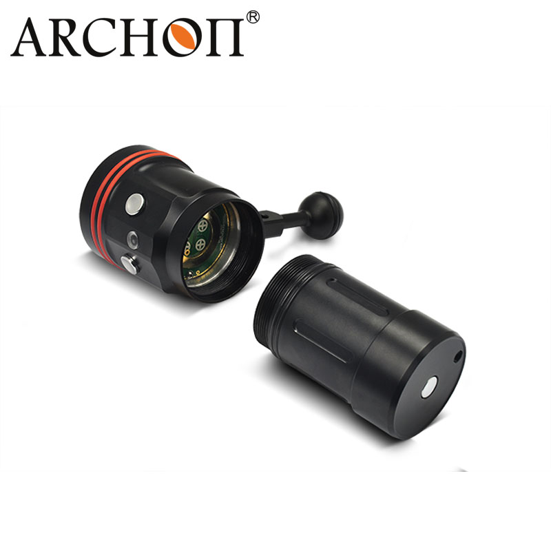 CREE Xml-L2 5200lm Underwater IP68 100m Depth Diving Video Torch Light