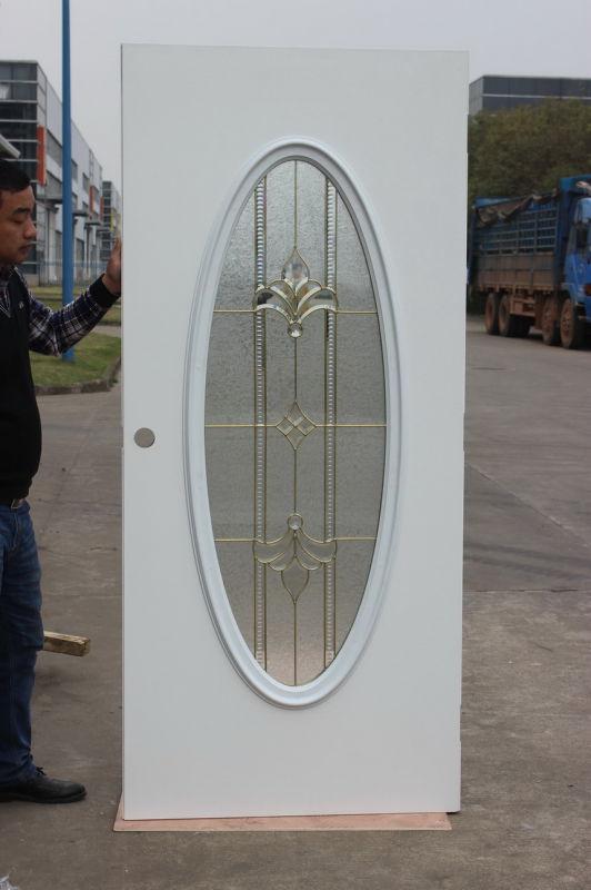 American Tempered Glass Entrance Steel Door