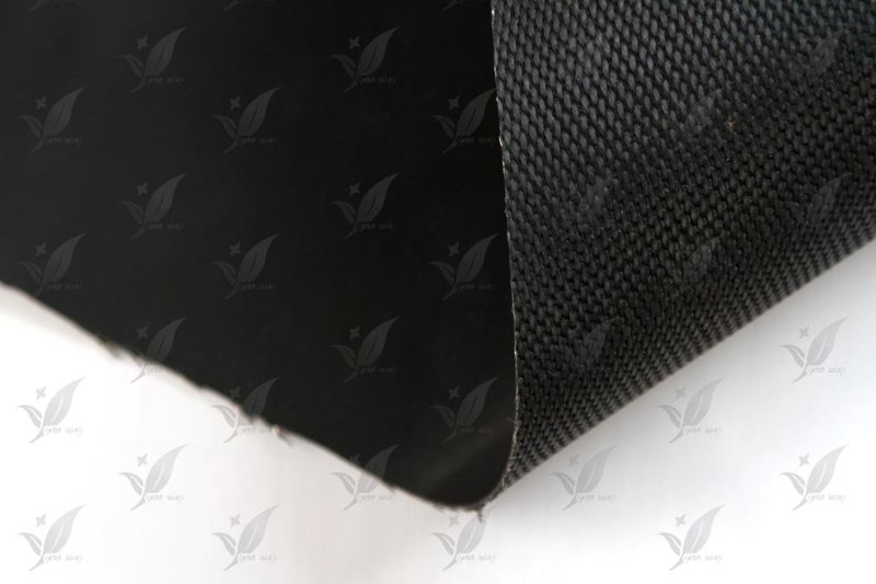 Solicone Coated Fiberglass Fabric Black Colour
