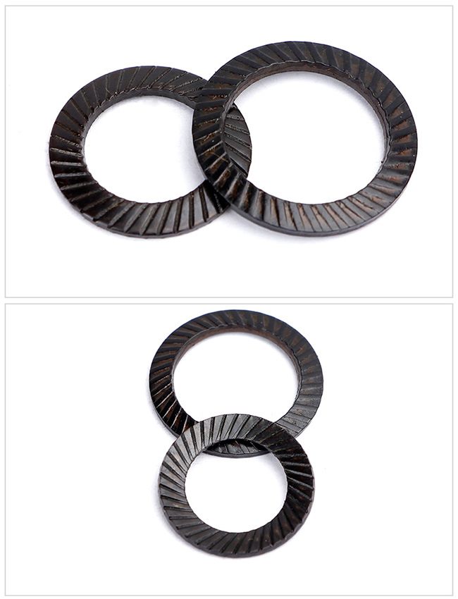 Black Steel Disc Spring Conical Washer