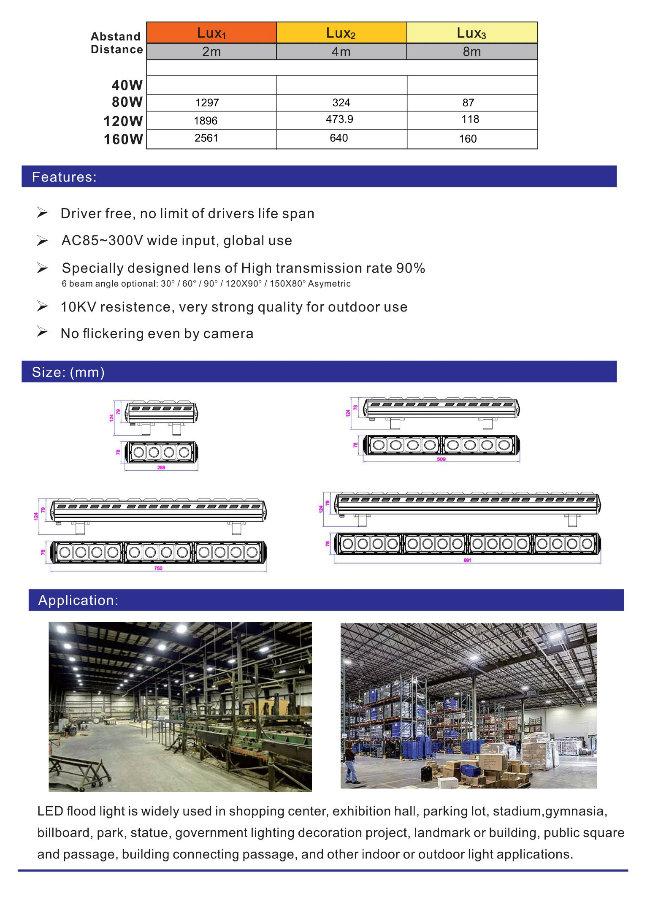120W Hot Sell Osram3030 Driverless Linear LED High Bay Light