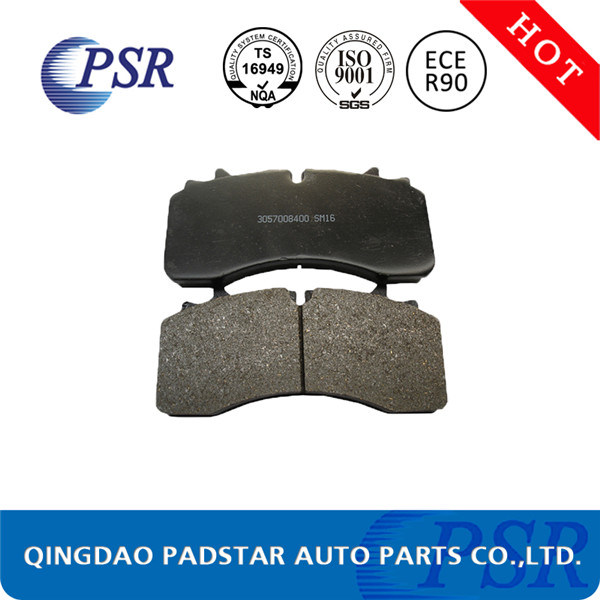 Wva29165 Used Stamping Hole Back Plate Truck Brake Pad for Mercedes-Benz